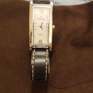 New Battery 10/25 Peugeot Women's Black Watch